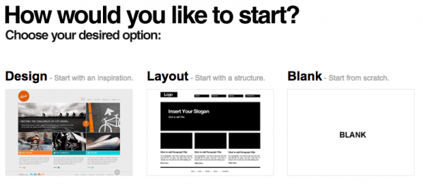 webydo3つのパターンから選択