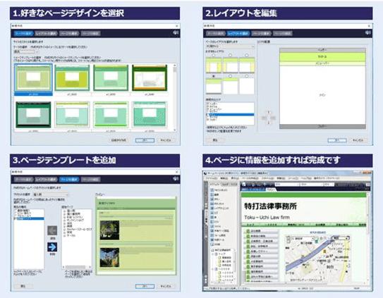 ホームページV4の4ステップ説明画像