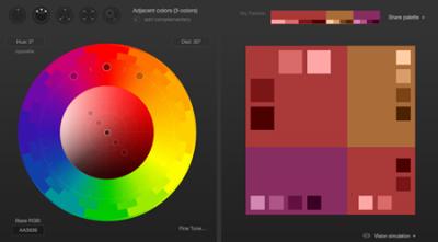 ウェブサイト配色について
