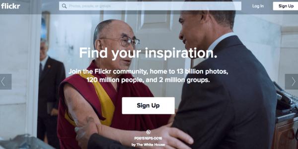 flickrのスクリーンショット