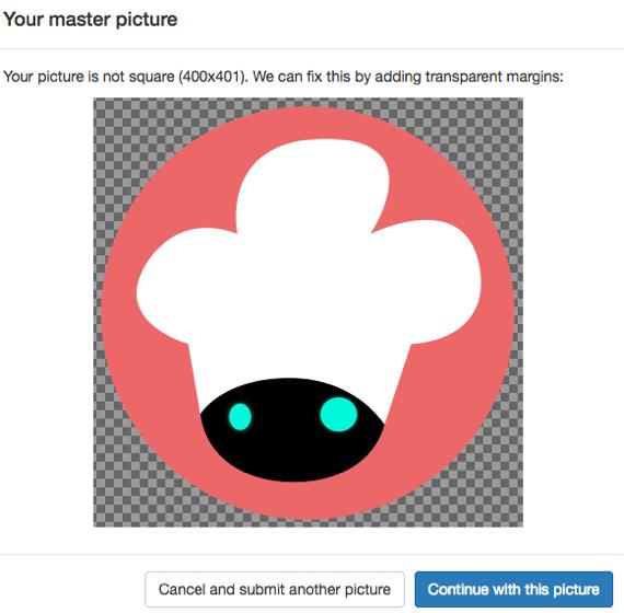 iconアップロード画面